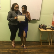 IHTC Instructor, Onercy Gonzales with September 2018 IHTC HHA Graduate, Jeaneth A.
