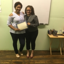 Congratulations to our Student of the Year, Nadiusa S, with IHTC Instructor, Onercy Gonzales.