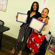 September 2018 IHTC HHA Graduates, Winifer A, and Magdalena M.