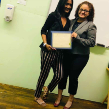 September 2018 IHTC HHA Graduate, Winifer A, with IHTC Instructor, Onercy Gonzales.
